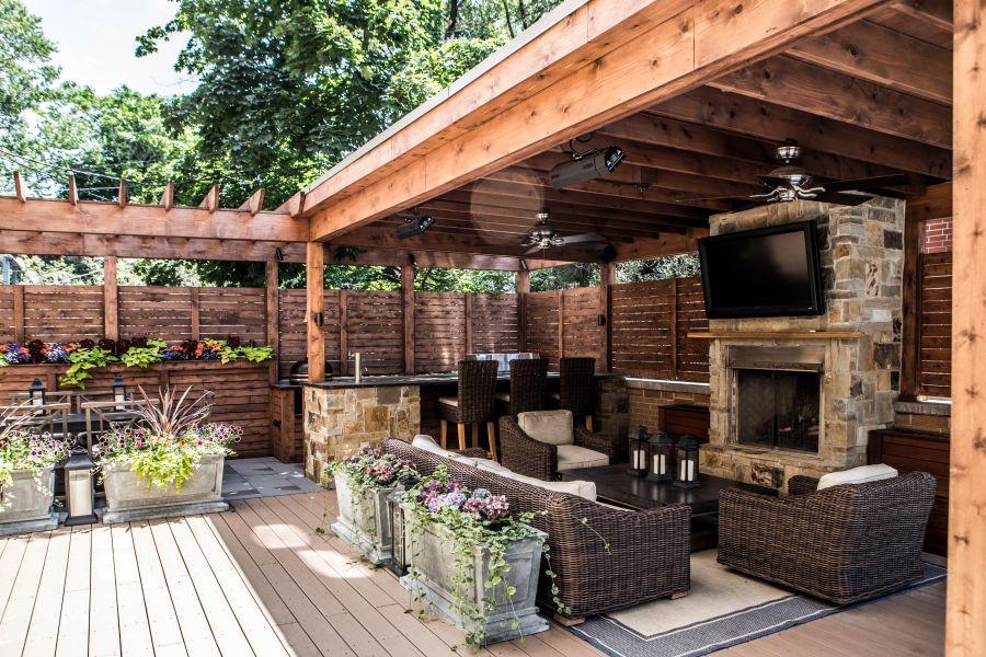 Portfolio | Backyard entertaining area on Small Backyard Entertainment Area Ideas id=68900