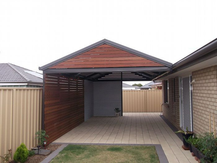 Multispan Gable Verandah With Timber Infills And Corrugated Cladding All Type Roof Cladding Brick Roof Cladding