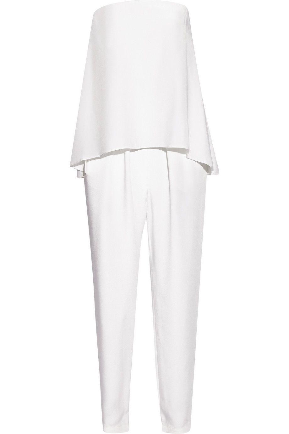 947fe677b12 TIBI Strapless Layered Silk Jumpsuit.  tibi  cloth  jumpsuit ...