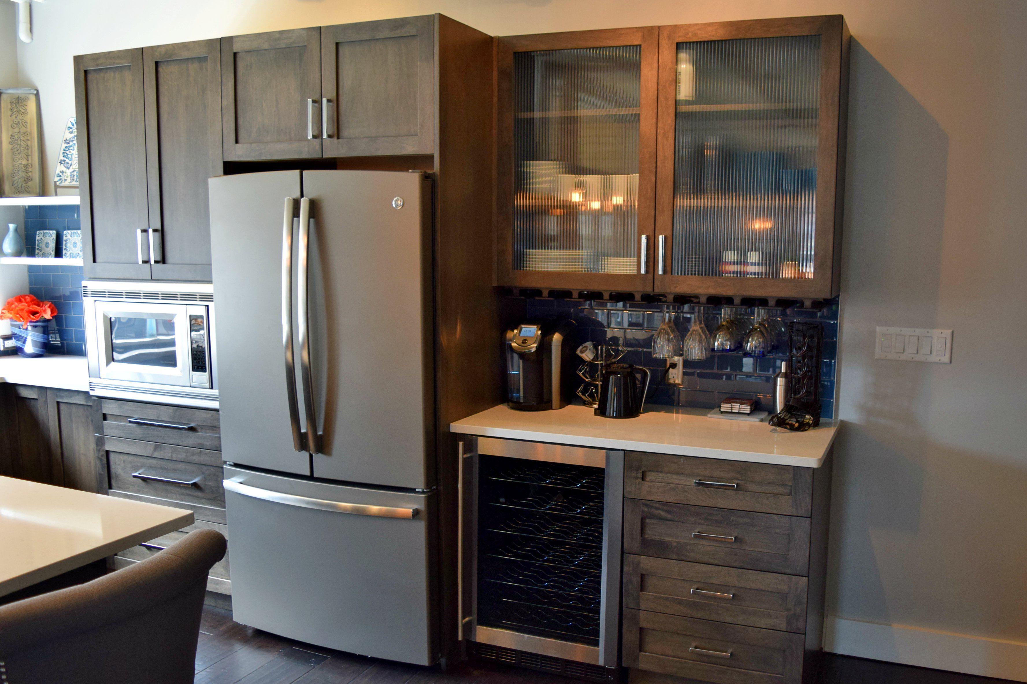 BKC Kitchen And Bath   Crystal Cabinets, Regent Door Style, Blackstone  Finish On Maple