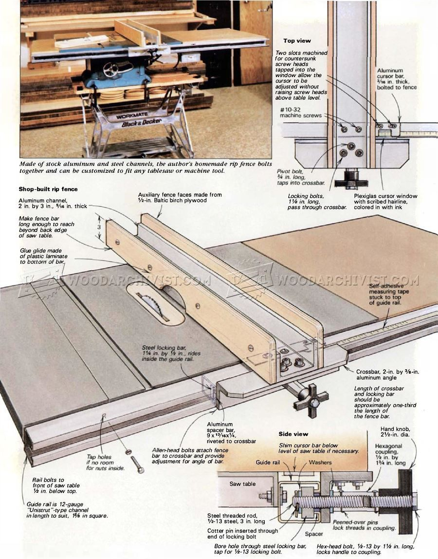 DIY Table Saw Fence   Table Saw