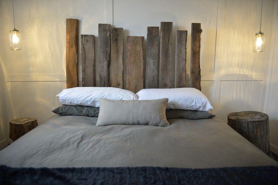 tete de lit bois de grange Maison  Chambre - Tête de lit - Peindre Des Portes En Bois