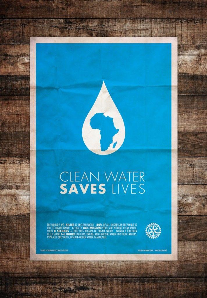 Rotary International Minimal Art Posters Rotary International Charity Poster Water Poster