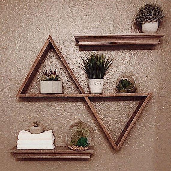 Doppelt zurückgefordert Dreieck Regal Holz Palettenregal | Baby room ...