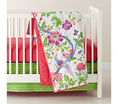 Love Land Of Nod for baby bedding.Floral Rainforest Crib ...