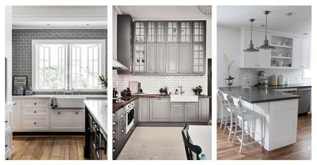 Galeria Wnętrz Kuchnie W Biało Szarym Wykończeniu