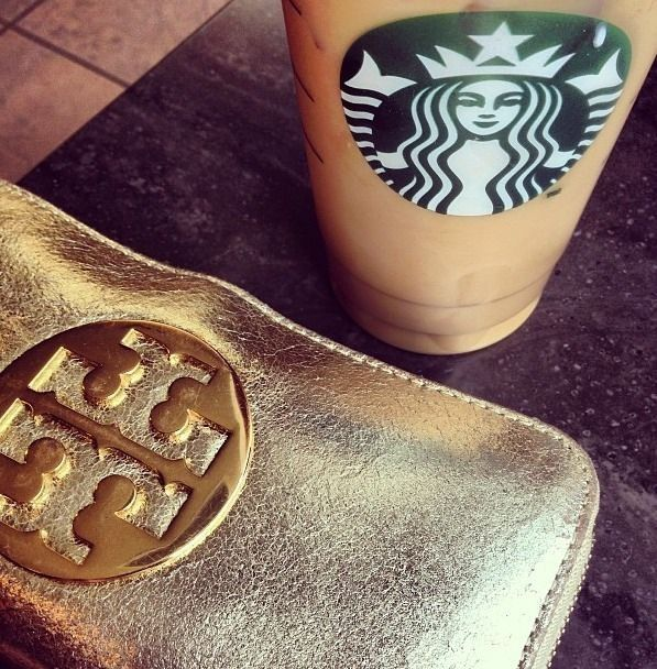 Tory Burch and Starbucks <3