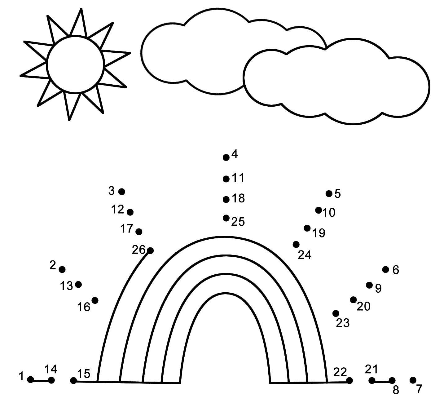 Beautiful Kindergarten Dot To Dot Spring Dot Worksheets Dot To Dot Puzzles Dot To Dot Printables