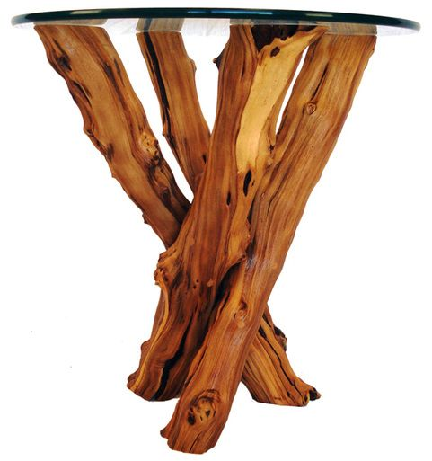 Old Vine Side Table Natural Live Edge Side Table Wine Country