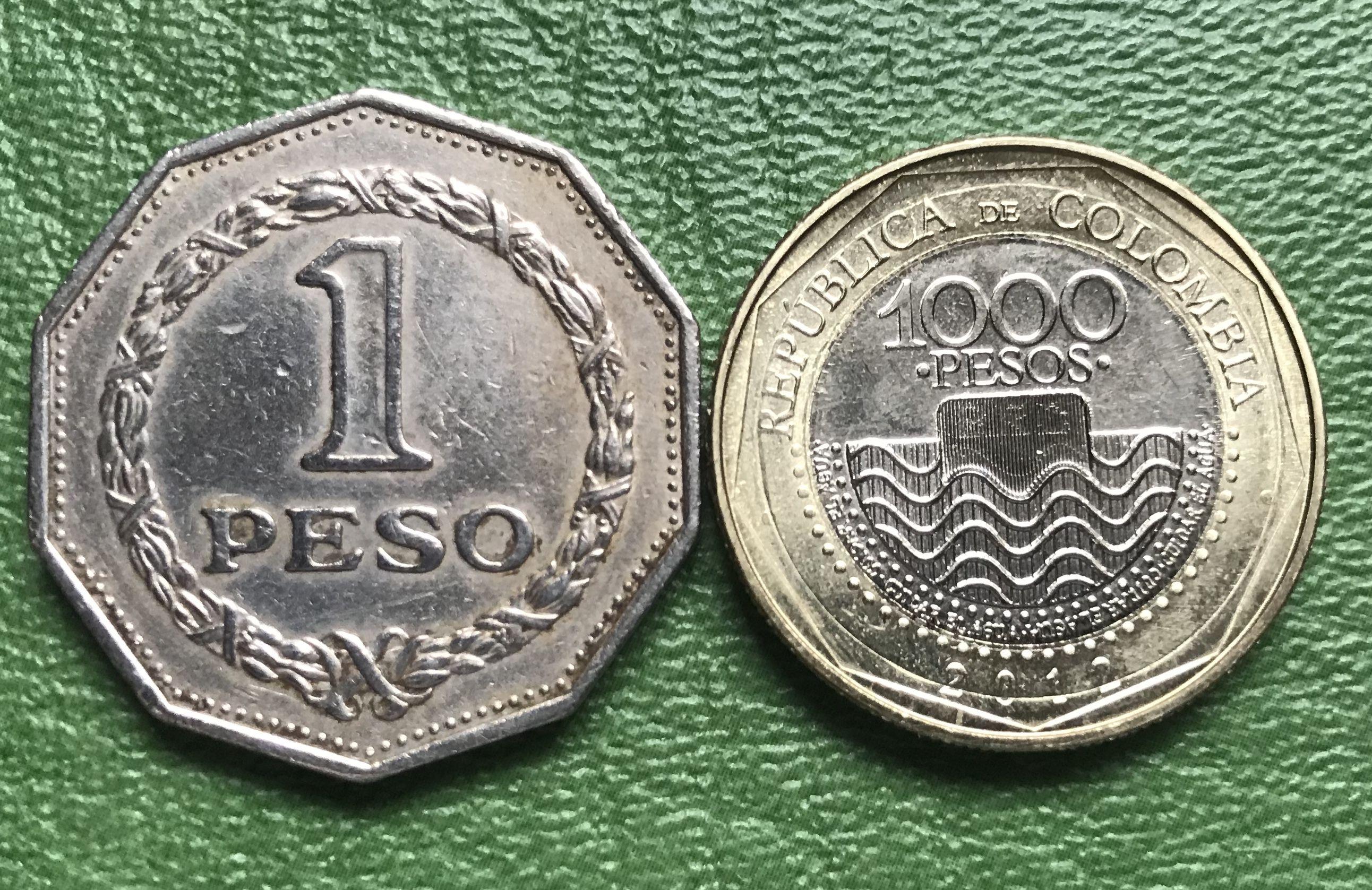 Comparando Tamaños Monedas De Colombia Monedas Billetes Colombia