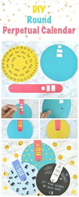 How to make a round perpetual calendar using silhouette or printer - Perpetual Calendar Template