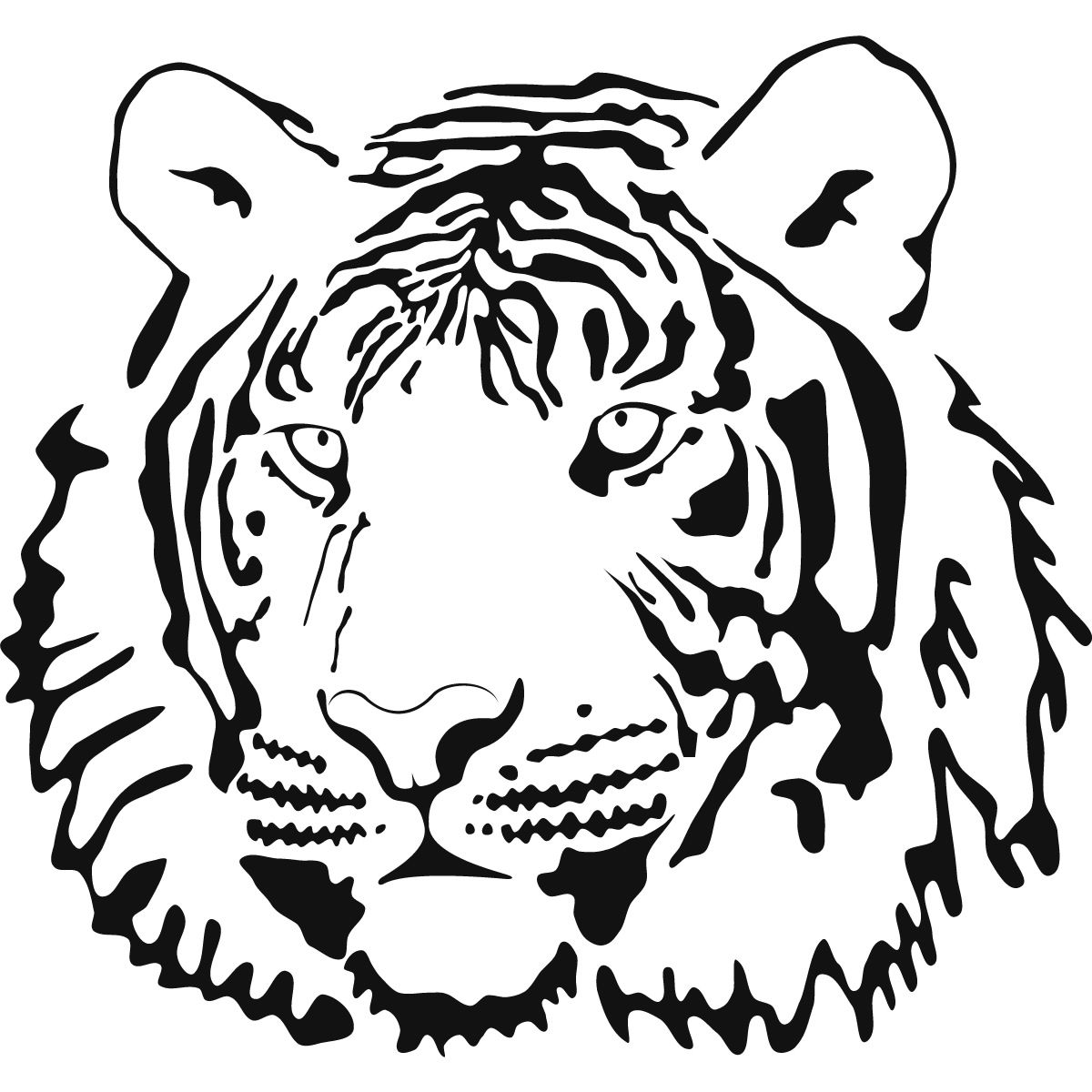 Best Photos of Tiger Outline Coloring Page - Cute Tiger Clip Art ...