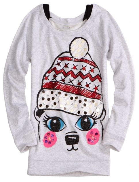 Embellished Critter Sweatshirt | Girls Tops u0026 Tees Clothes | Shop Justice | Christmas list ...