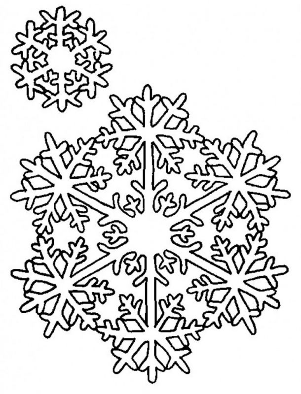 Snowflake Coloring Pages Printable Snowflake Coloring Pages