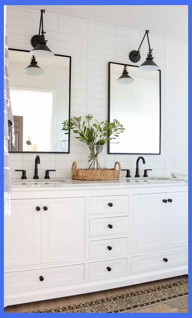 Modern Farmhouse Master Bathroom Renovation with Delta The Process  Reveal  Modern Master bathroom