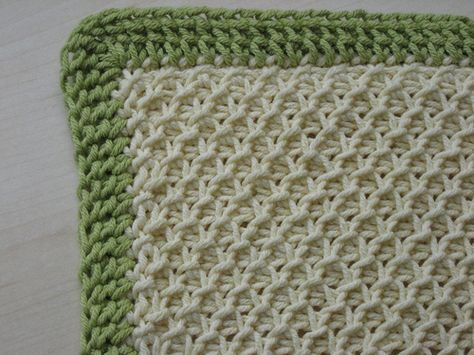 Tunisian crochet free pattern. Smock Stitch Baby Blanket by Mary ...