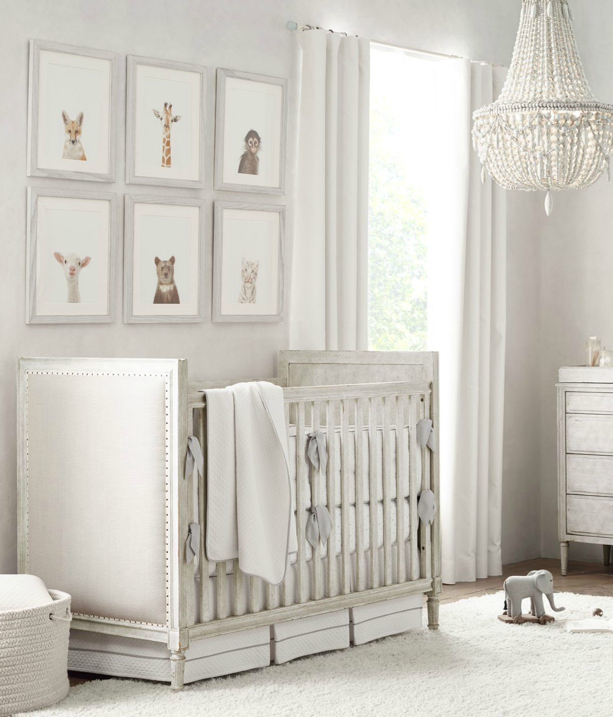 white furniture nursery. Set The Tone. For A Nursery That Suits Boys\u0027 And Girls\u0027 Rooms Equally Well, Choose Furniture In Silvery Grey Palette, Then Accent Pieces With Tonal White E