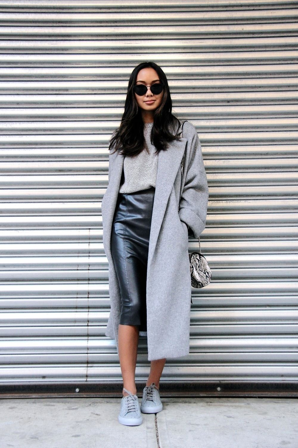 bdd4e3839 How To Wear Sneakers With A Skirt (The Edit) | Women's Fashion ...