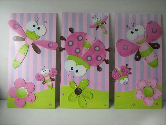 Pin de analia cort s en cuadros deco pinterest cuadros for Decoracion habitacion bebe goma eva