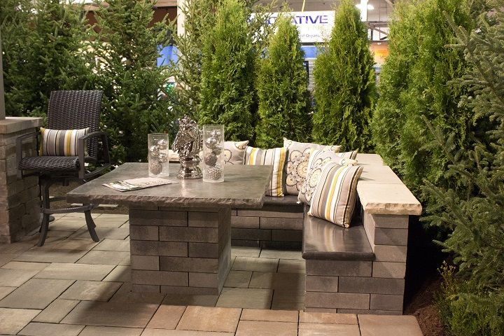 Luxury Outdoor Patio Seating Area Showcased At The 2016 Indianapolis Home  Show.