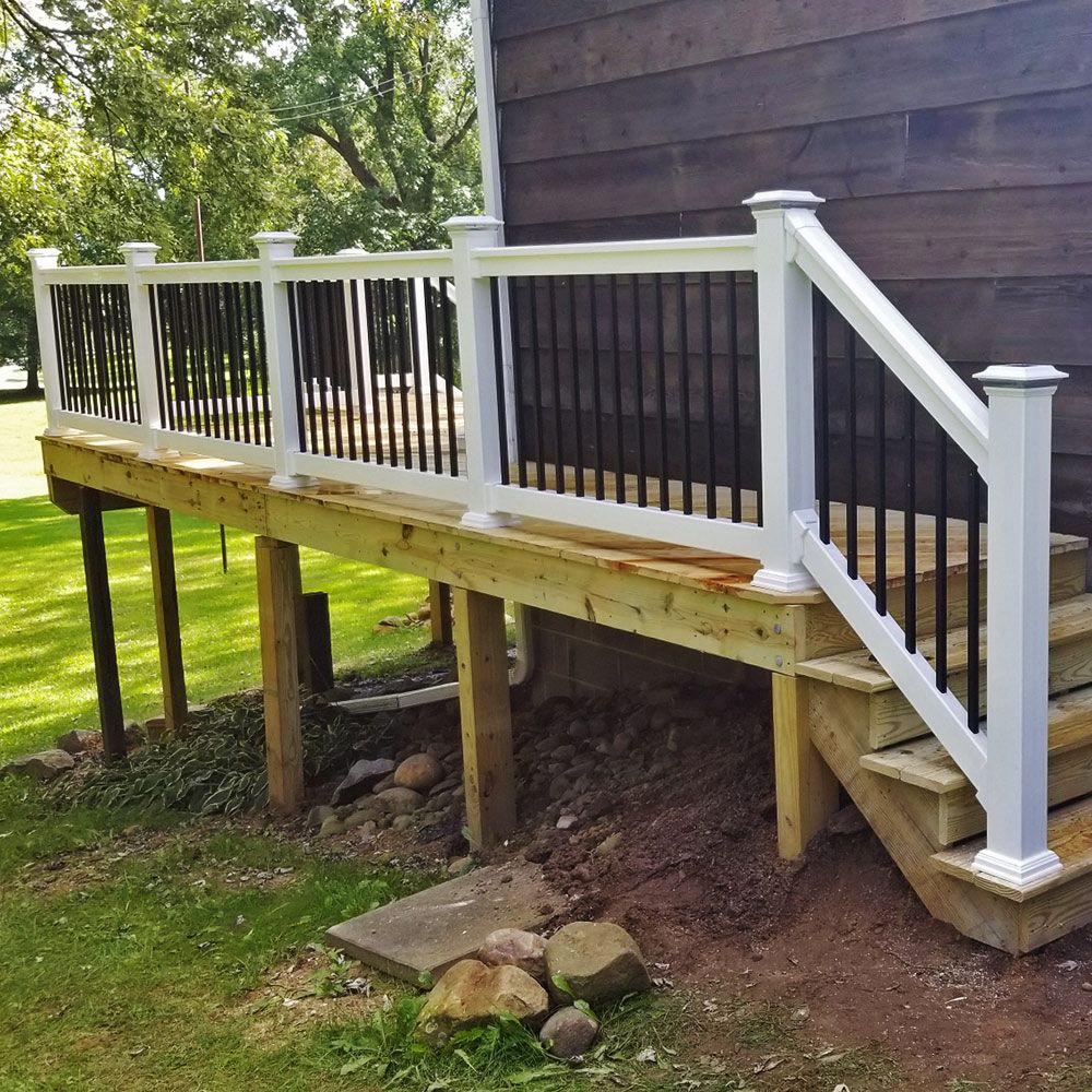 Birmingham Vinyl Railing Patio Deck Designs Deck Designs Backyard Outdoor Living Deck
