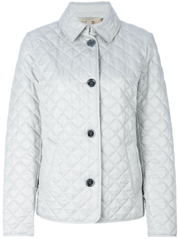 Burberry Brit women's light grey stone copford diamond quilted ... : burberry brit fairstead quilted jacket - Adamdwight.com