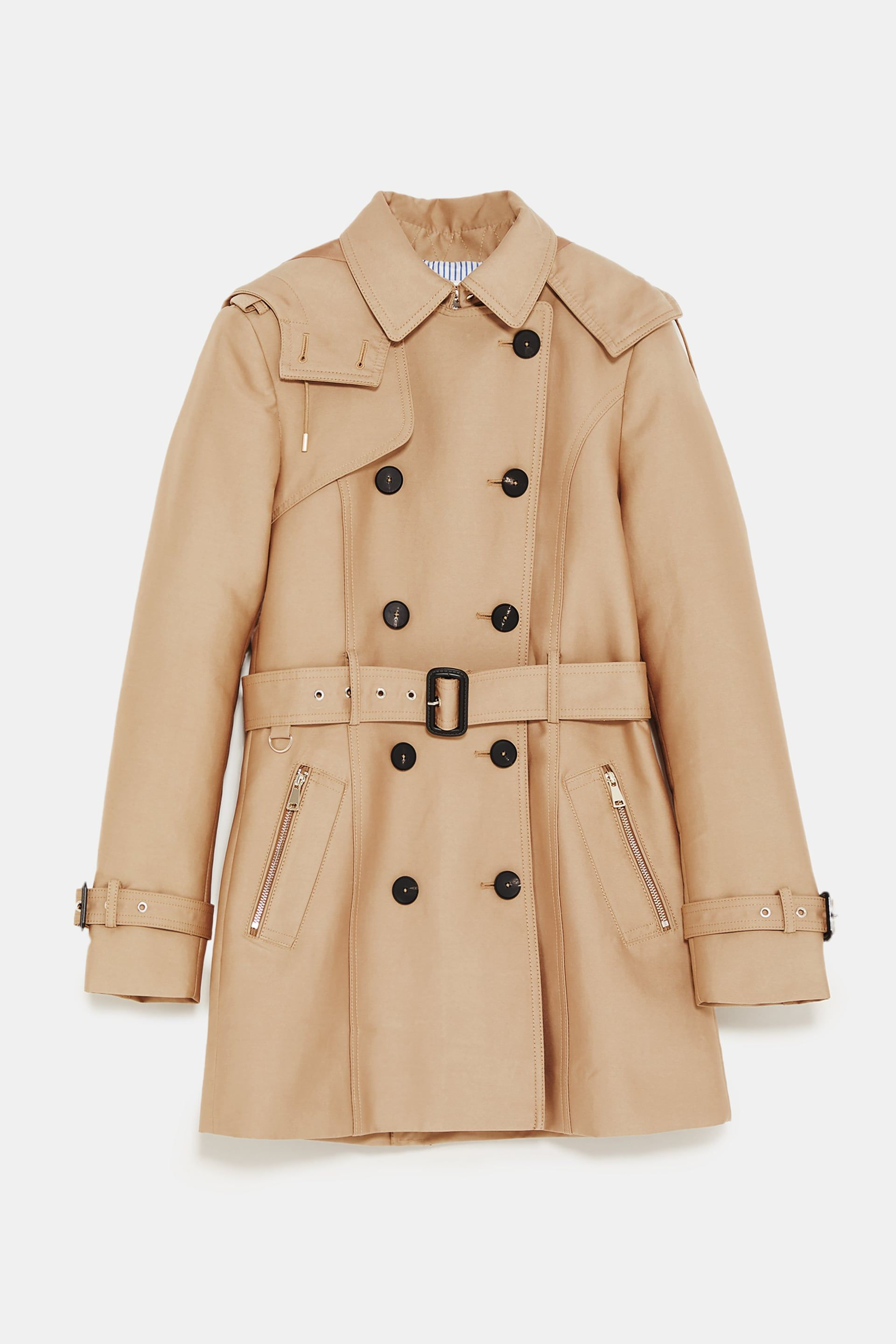 Image 8 of HOODED TRENCH from Zara Hooded Trench Coat 412ddacc36a53