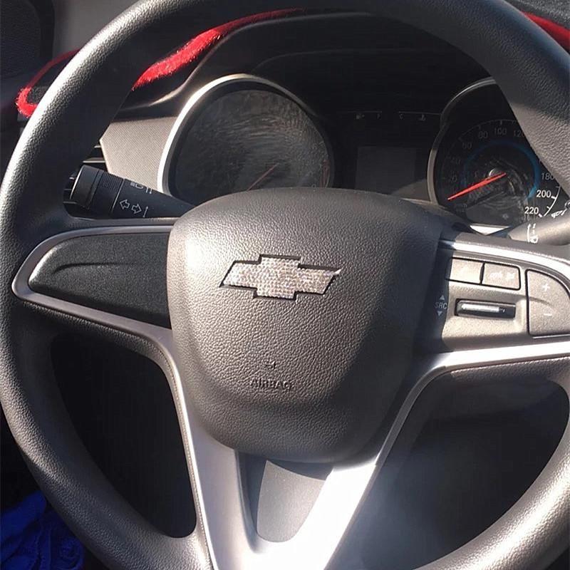 Chevrolet Chevy Bling Rhinestone Steering Wheel Logo Sticker Decal