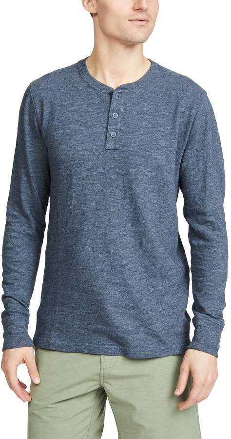 47a9e886 Faherty Slub Cotton Long Sleeve Henley Tee in 2019 | Products ...