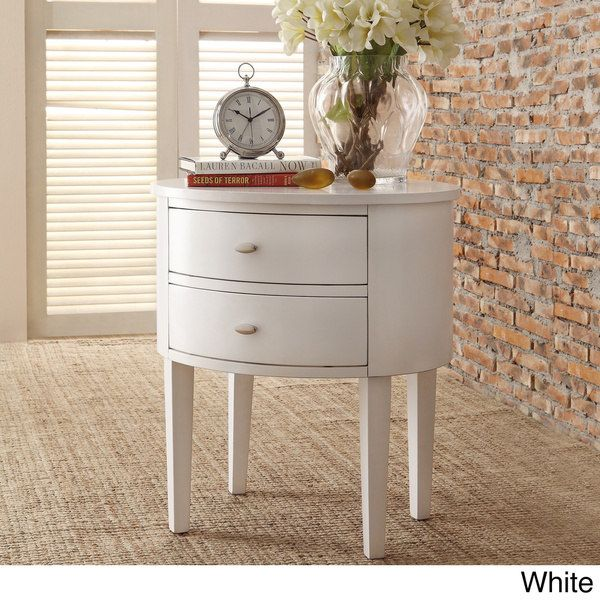 Aldine 2 Drawer Oval Wood Accent Table By Inspire Q Bold Avec Images Decoration Maison