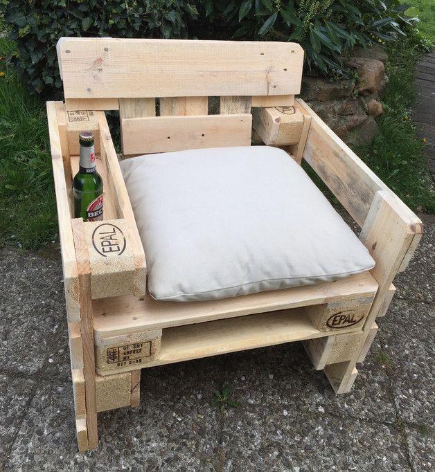 Amazing Garten Lounge Sessel aus Europaletten Sommer Sonne Gartenzeit