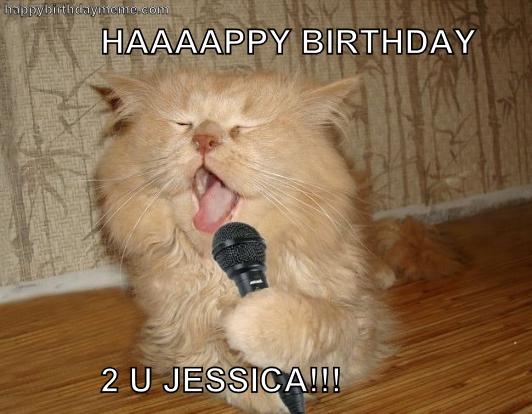 Karaoke Kitty Happy Birthday Meme Cat Birthday Memes Happy Birthday Cat Happy Birthday Dog Meme
