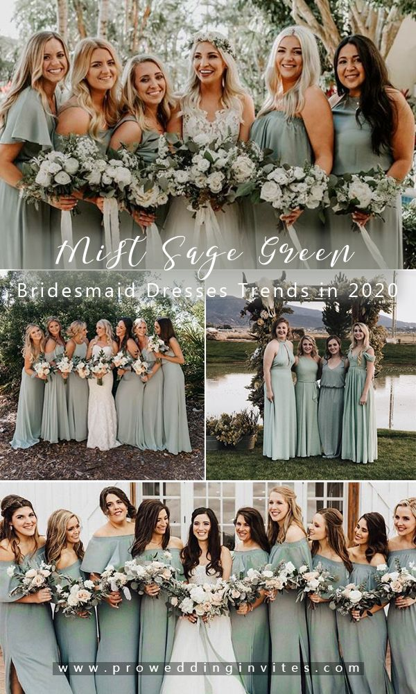 Silver sage bridesmaid dresses that you can't miss