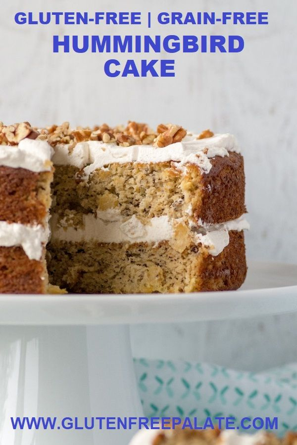 One bowl Grain-Free Hummingbird Cake that's tender, perfectly sweet, and naturally gluten-free, dairy-free, and refined sugar-free. #grainfree #cake #glutenfree
