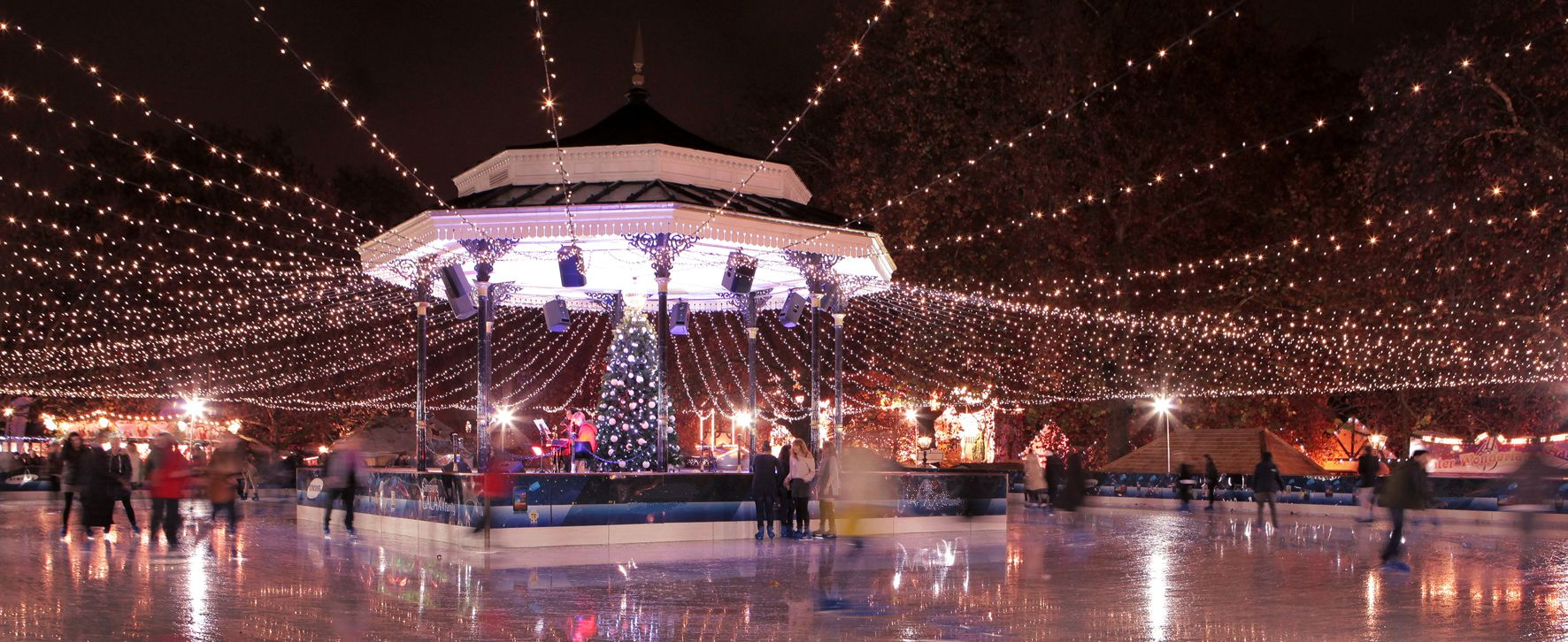 Christmas Ice Skating London.Hyde Park Ice Skating Rink London Anglophile Part 1