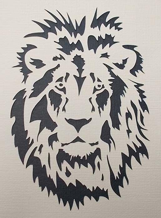 lion stencil pinturas cuadros de madera leon silueta imprimir rh pinterest es  stencil leonardo