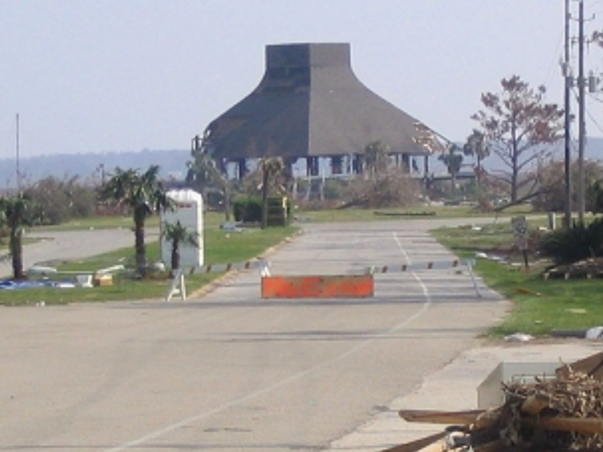 Former Diamondhead Yacht Club After Hurricane Katrina