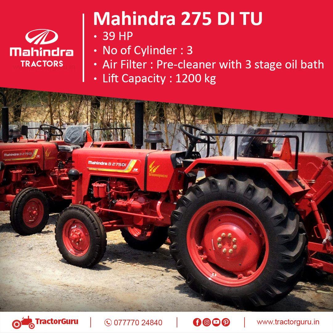 Price Https Tractorguru In Tractor Mahindra 275 Di Tu 39 Hp Lift Capacity 1200 Kg Tractorguru Tractord Tractors Tractor Price Mahindra Tractor