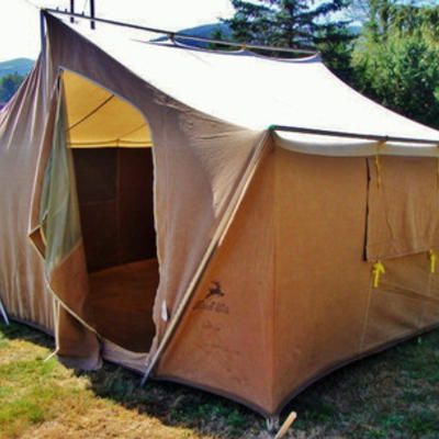 Genial Hirsch Weis Canvas Cabin Style Tent. This Is The First Tent I Remember  Though There