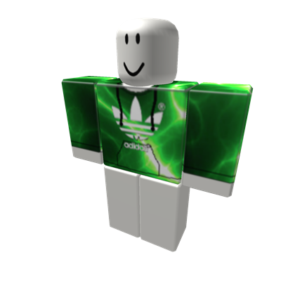 Green Lighting Adidas Hoodie - ROBLOX