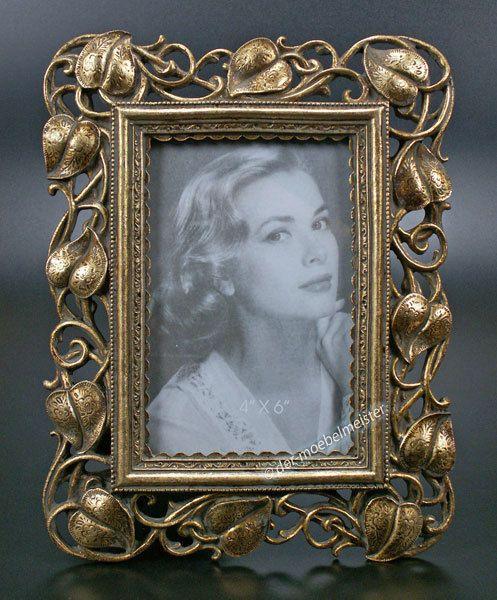 Jugendstil Bilderrahmen Fotorahmen 10x15 Rahmen Farbe Silber Antik Look Stil