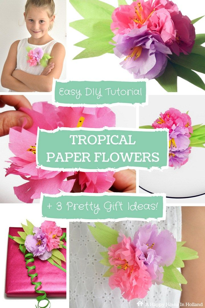 How to make paper flowers step by step easy tutorial learn how to make simple beautiful handmade crepe paper flowers in a few easy steps find out how to turn them into 3 gorgeous gift ideas mightylinksfo