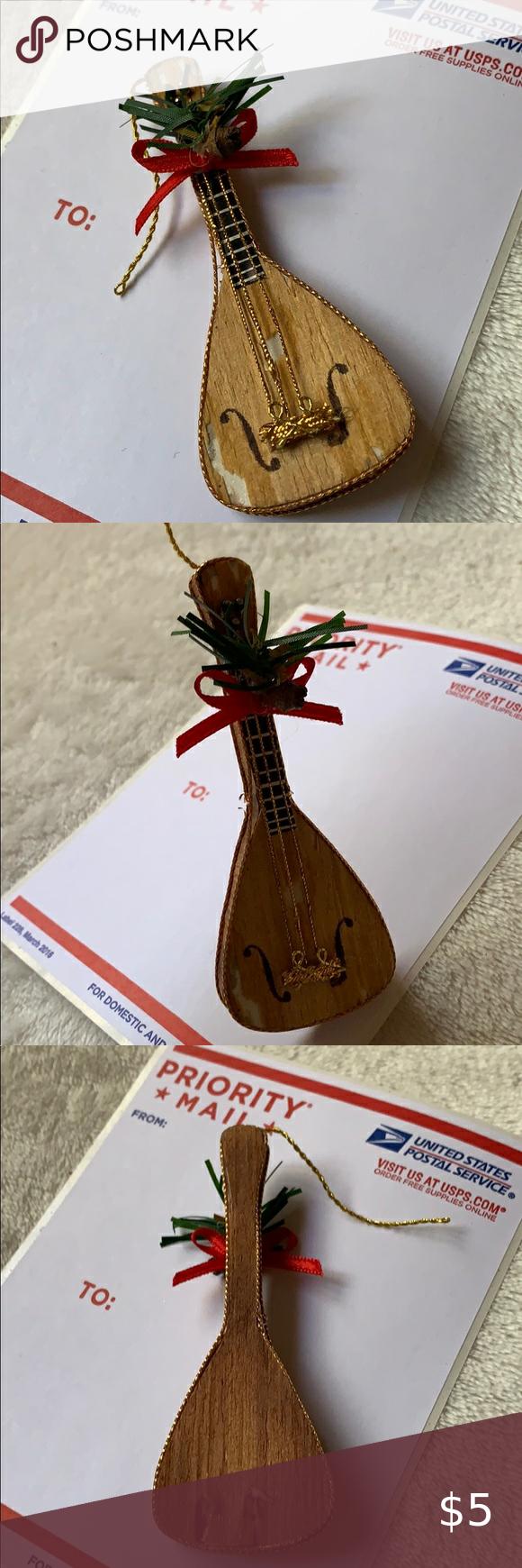"3.5"" vintage guitar 🎸 Christmas tree ornament in 2020 ..."