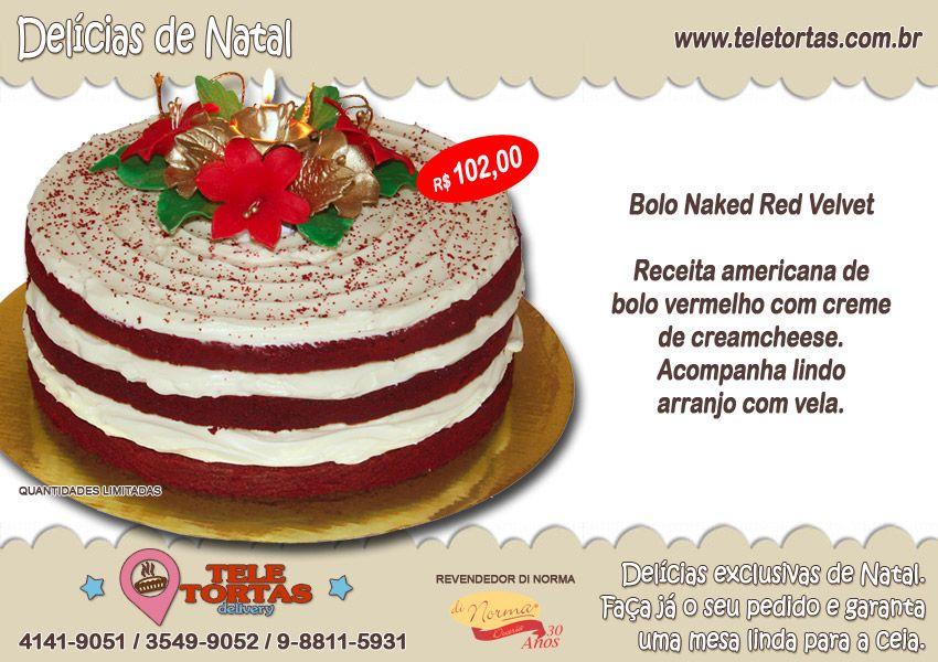 """Bolo Naked Red Velvet feito com: Receita americana de bolo vermelhocom creme de creamcheese. Acompanhalindo arranjo com vela. Clique no botão comprar ou peça pelos telefones: (21) 3549-9052 (21) 4141-9051 WhatsApp: (21) 9-7982-8000 Compartilhe nossas delícias com seus amigos: [feather_share show="""" facebook, google_plus, twitter, pinterest, linkedin, tumblr"""" hide=""""reddit, mail""""]"""