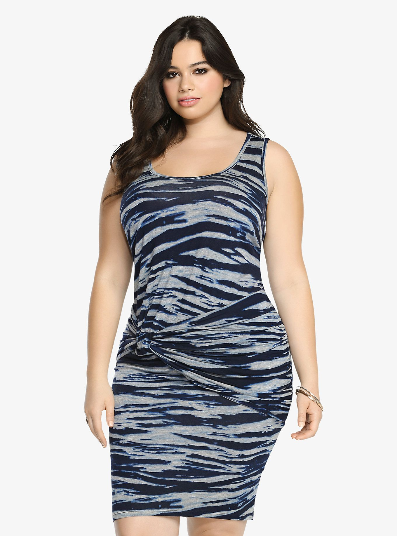 bdc87c534e938 Tie-Dye Knot Tank Dress Found on Torrid. Time to tie the knot. This blue  tie-dye beauty is ready to be all yours! It s a cool
