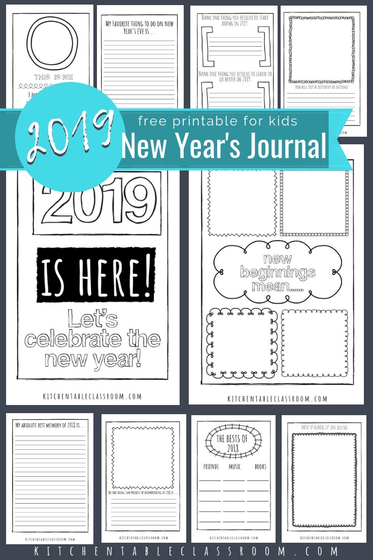 Welcome 2019 with these free new years coloring pages and journal prompts record remember and predict with these fun new years printables pages