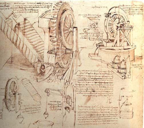 BOCETO PARA UN POZO DE AGUA | LEONARDO DA VINCI. ( 1542-1519 ...
