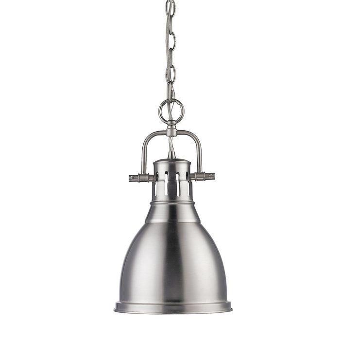 Golden lighting duncan 1 light mini pendant with pewter shade pewter indoor lighting pendants