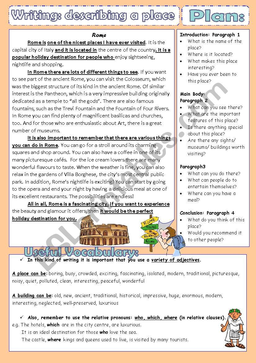 Model Letter Of A Description Of A City A Plan And Some Useful Vocabulary Descriptive Writing English Writing Skills Essay Writing [ 1169 x 826 Pixel ]