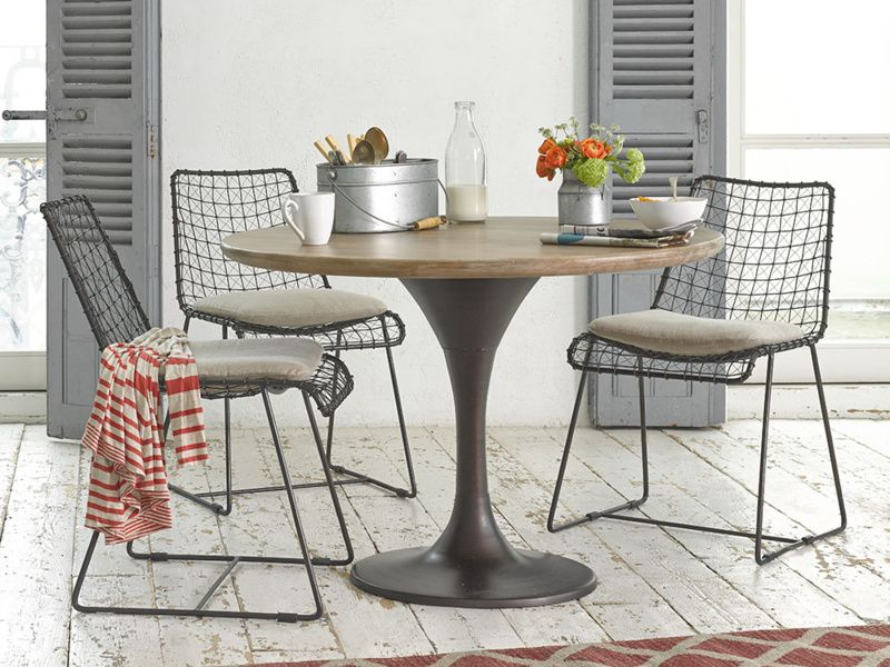 Elegant Geronimo Gunmetal Kitchen Chairs